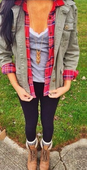 How to Style: Unbuttoned Plaid + Utility Jacket