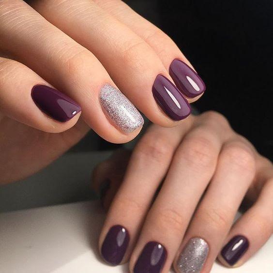 Original Black And Grey Gel Nail Designs - nail art design