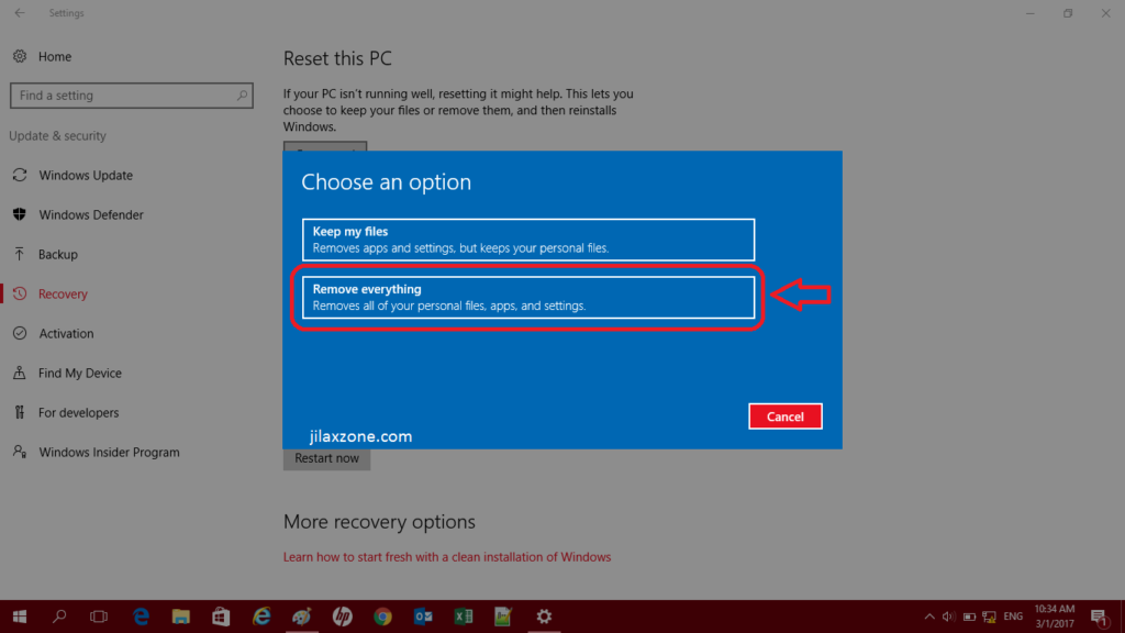 Windows 10: How to Reset Windows 10 PC to Factory Settings Without Wiping The Entire OS - JILAXZONE