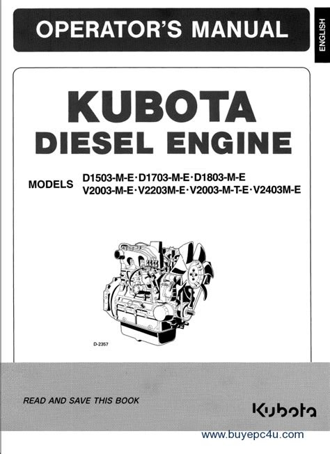 Kubota Engines Parts & Workshop Manuals PDF