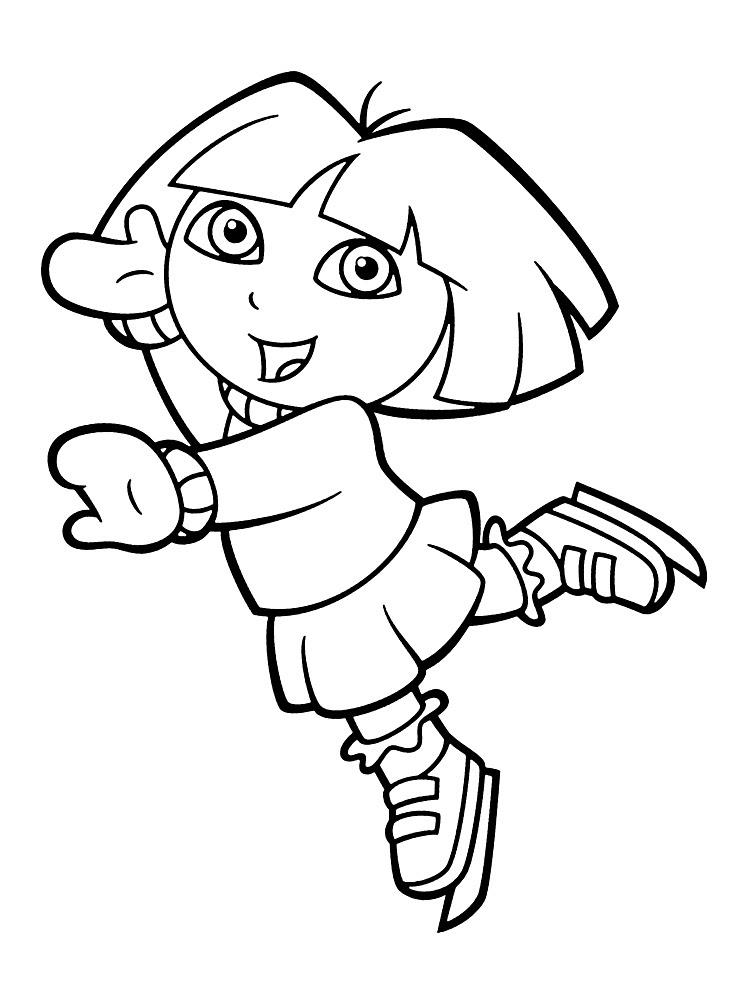 Imprimir Imágenes Dibujos Para Colorear Dora La Exploradora Para
