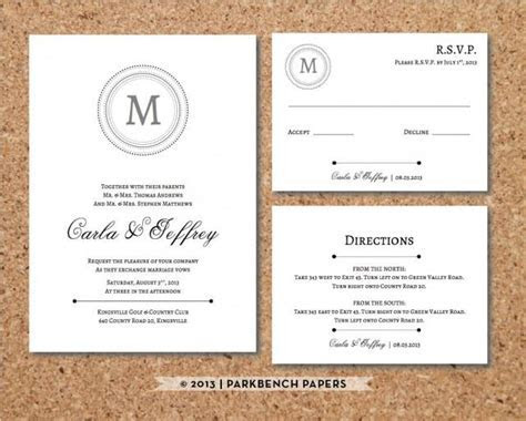 Editable Wedding Invitation, RSVP Card, And Insert Card