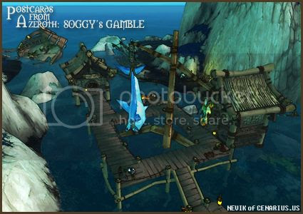 Rioriel and Nevik's daily World of Warcraft screenshot presentation of significant locations, players, memorable characters and events, assembled in the style of a series of collectible postcards. -- Postcards of Azeroth: Soggy's Gamble