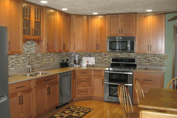 Terrific Kitchen Backsplash Oak Cabinets Home Design And Decor Reviews Home Interior And Landscaping Staixmapetitesourisinfo
