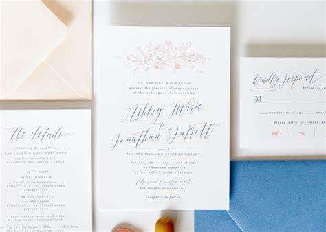 Dusty Blue Wedding Invitation Package ? Fresh Cut Prints