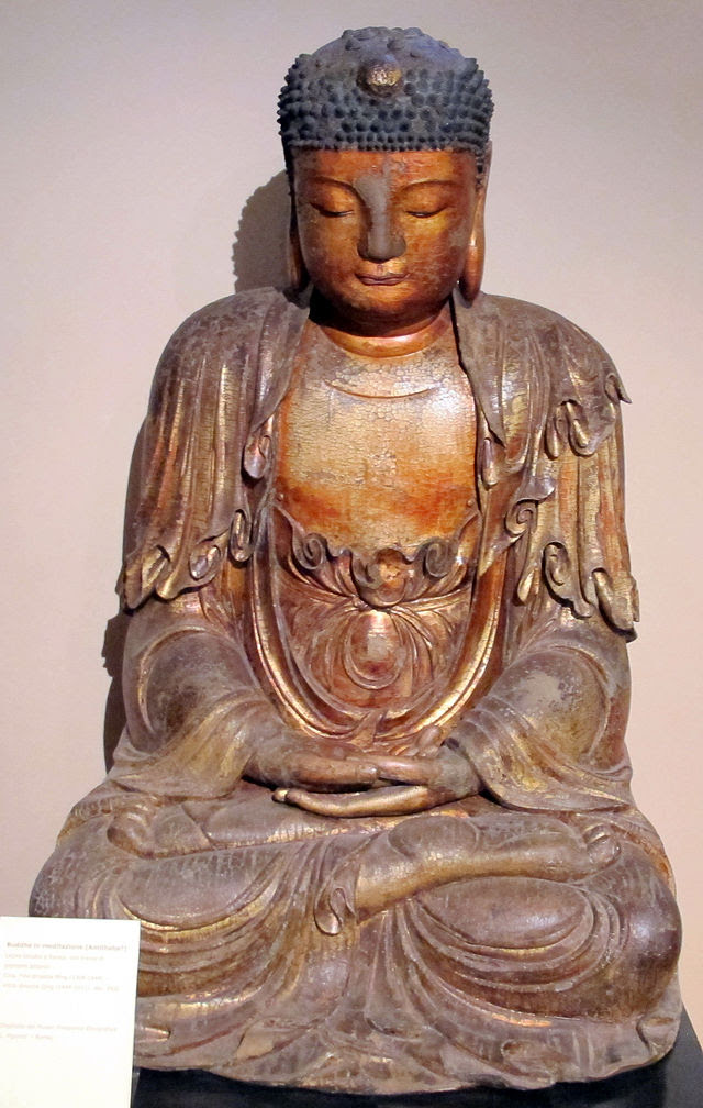 Dinastia ming (fine) o qing (inizio), buddha in meditazione, XVII sec.JPG