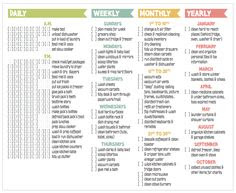 House Cleaning Checklist Daily Weekly Monthly | Daily Planner