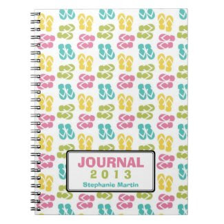 Summer fun flip flop sandal custom year journal