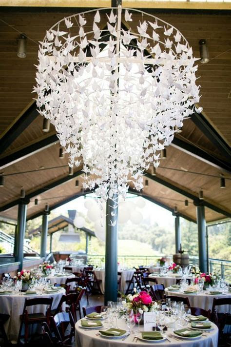 What a stunning origami crane chandelier! Photo by