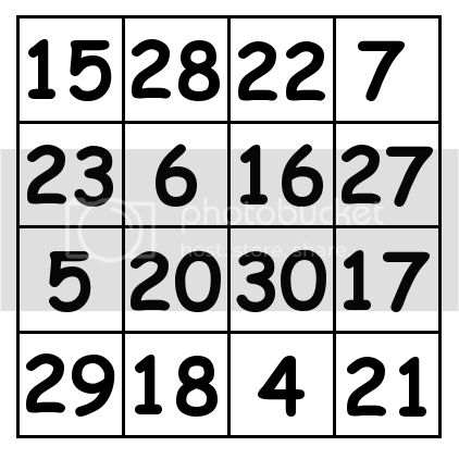 4 by 4 grid Solution 3