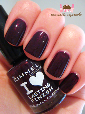 cosmetic cupcake rimmel black cherries and a story