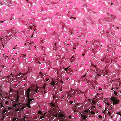 db0245 Delicas - 11/0 Japanese Cylinders - Cotton Candy Pink Ceylon (7.5 g)