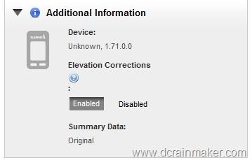 Garmin FR910XT Elevation Correction