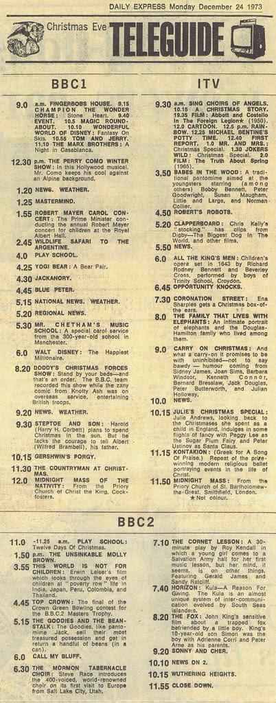 Christmas Eve TV 1973