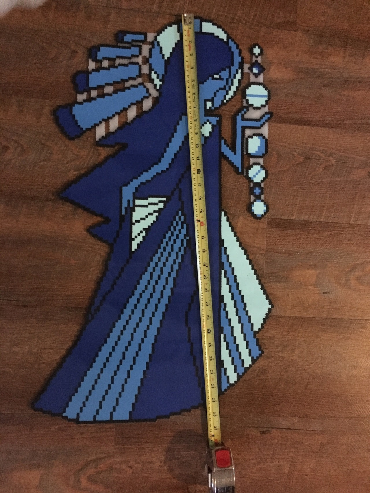 Blue Diamond's mural from Steven Universe in perler beads