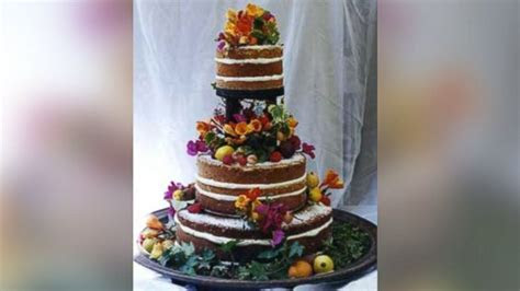 Brides Crave 'Naked' Cakes for Summer Weddings   ABC News