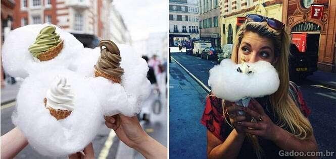Este sorvete de algodão doce está se tornando febre