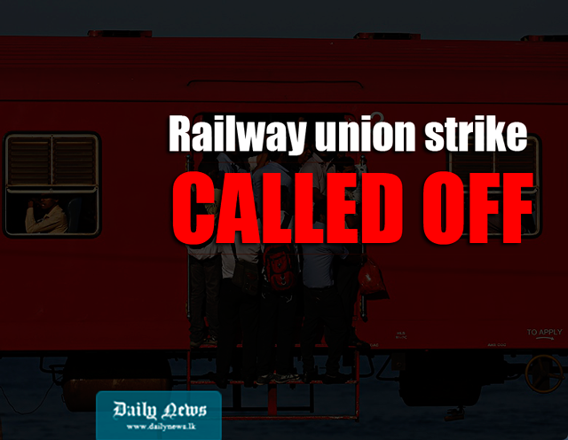 Railway union strike called off