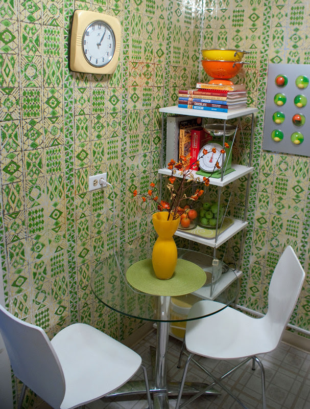 groovy green kitchen- table