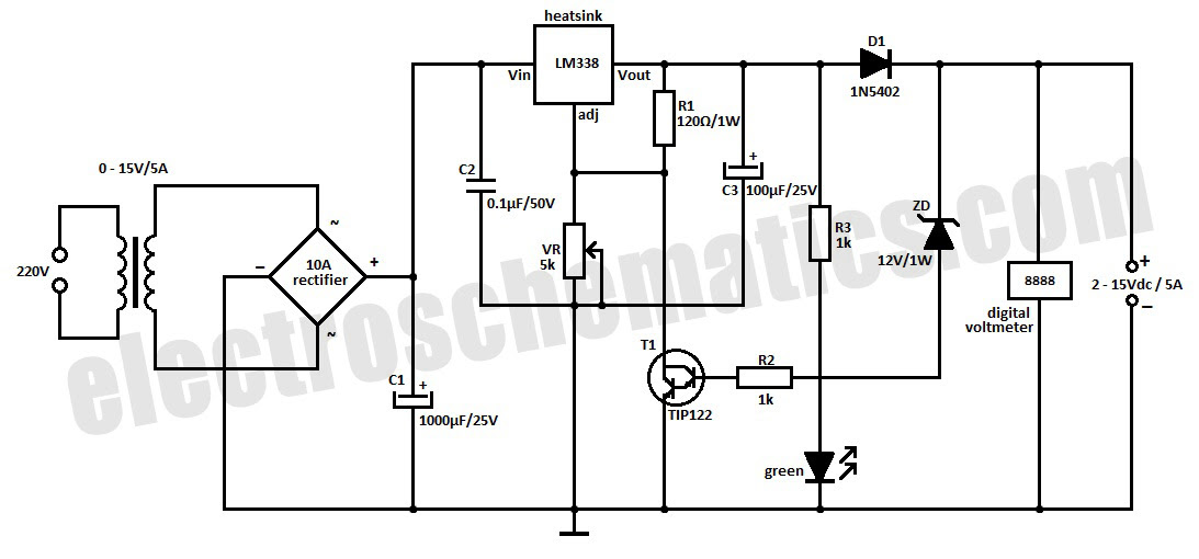6v 5a battery charger circuit