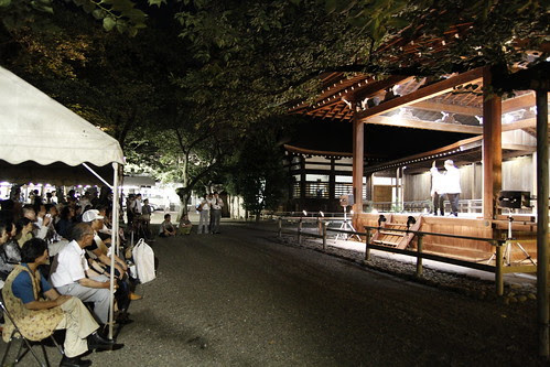 Watching a stage performance (Mitama Festival 2010)