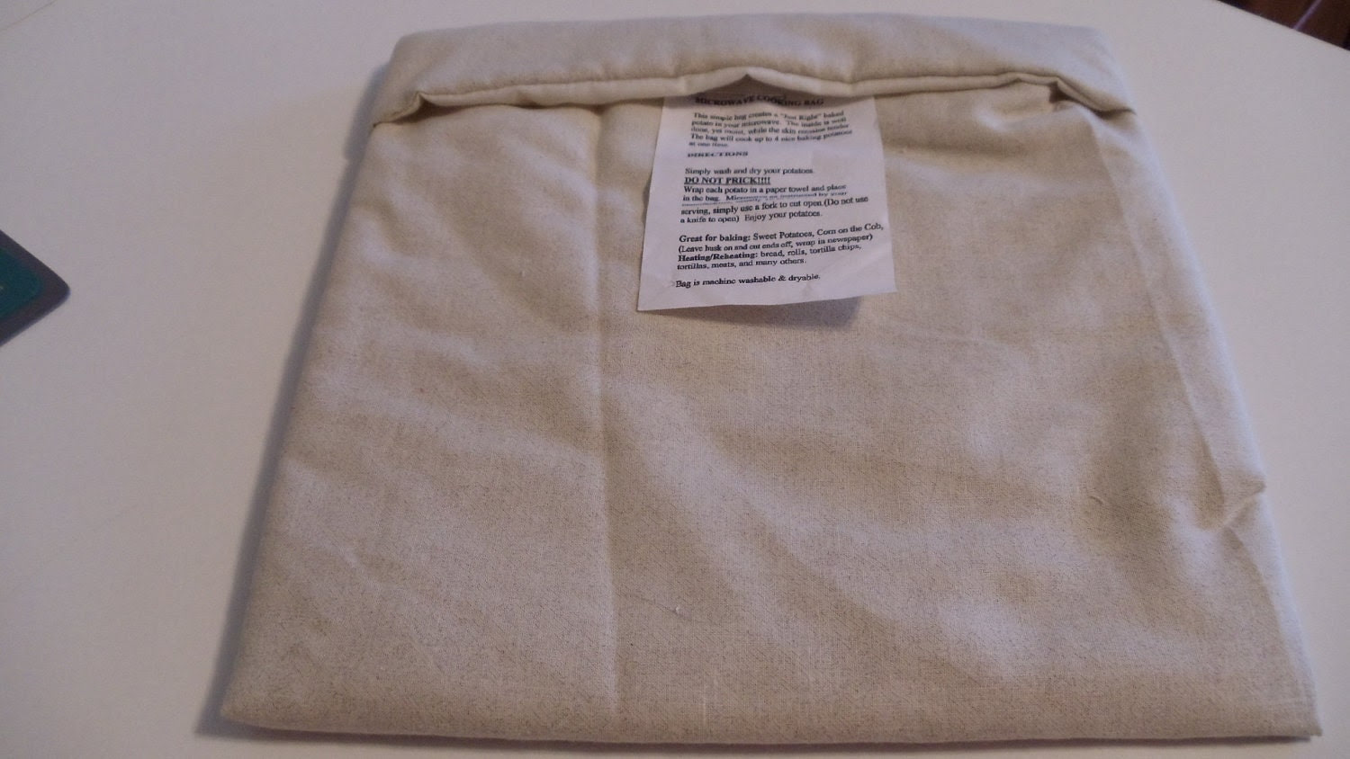 Microwave Baked Potato Cooking Bag - Beige