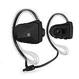 Levin™防水ヘッドセット ワイヤレスイヤホンマイク iPhone/iPad/ iPod/Android phone/Windows phone対応 (ブラック) [並行輸入品]