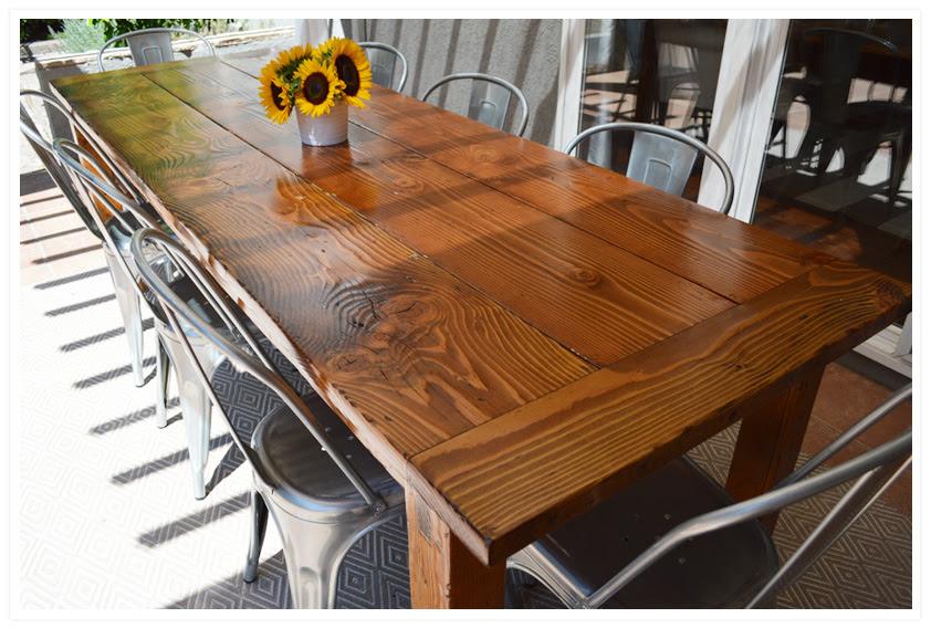 diy farmhouse table. » Wild Ink Press