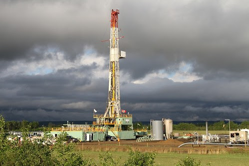 Shale Gas rigs along HWY 2 about 30 km south of Dawson Creek - 05
