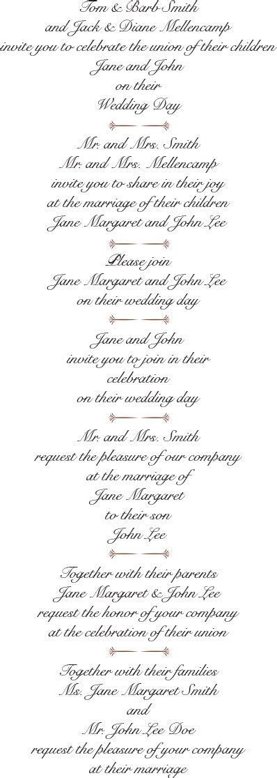 Best Wedding Invitation Wording Examples