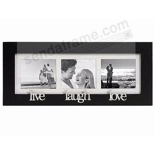 Live Laugh Love Special Black Trio Wall Collage Frame Picture
