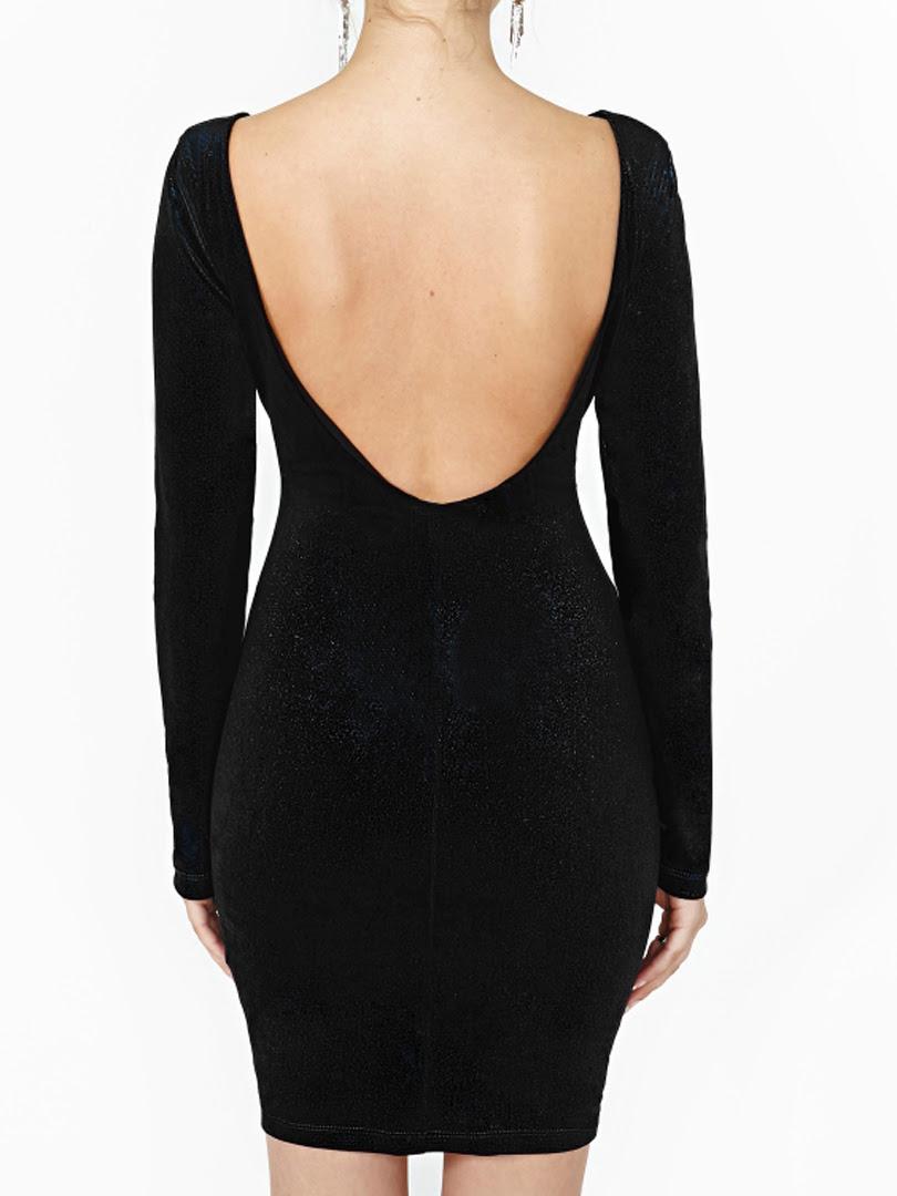 Black velvet long sleeve bodycon dress youtube carpet