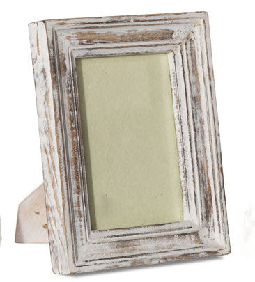 Whitewashed Mango Wood Frame 5 X 7 Mimosa Street
