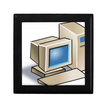 Retro Computer Jewelry Box