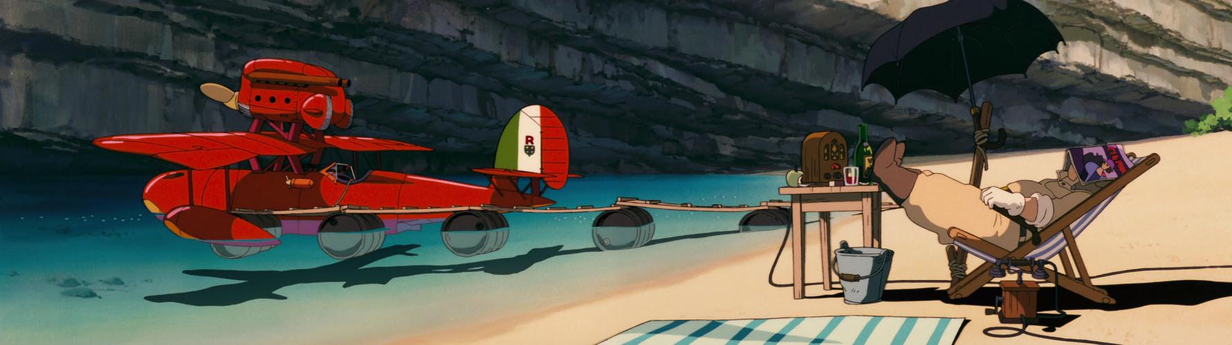 Imagen de 'Porco Rosso (1992)' - Playa tranquila