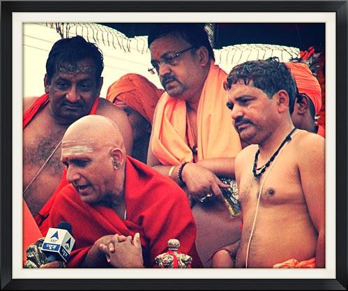 Swami Avdeshananadji Shahi Snan Maha Kumbh by firoze shakir photographerno1