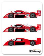 Calcas 1/24 Shunko Models - Toyota TS020 GT-One Esso - Nº 27, 28, 29 - 24 Horas de Le Mans 1998 para kit de Tamiya
