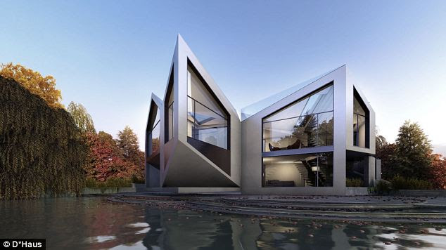 Design: The revolutionary home is based on the work of an early 20th Century mathematician who discovered a way to dissect a square and rearrange its parts into an equilateral triangle
