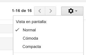 Personaliza la vista en pantalla de Gmail