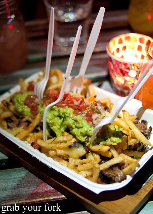 carne asada fries at chica bonita manly