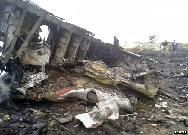 The crash site in Ukraine, 17 July