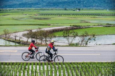 每一次的單車上路,都是騎士意志力與體力的考驗。(莊坤儒攝)