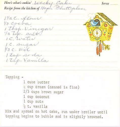 Hoyt Mericle Spillman Cartano Family Recipes List