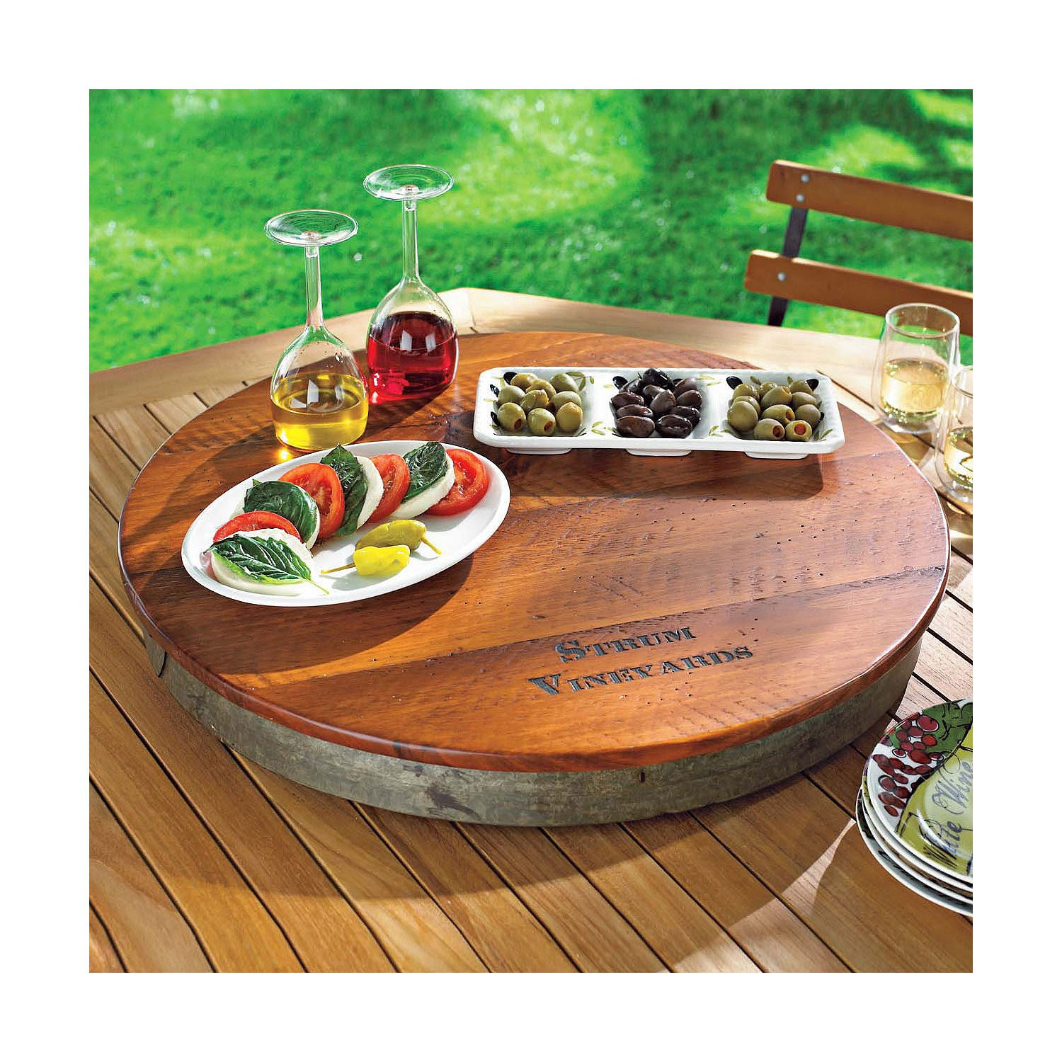 Wine Barrel Lazy Susan Personalized A Creative Mom