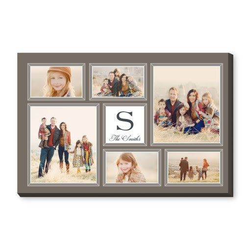 Classic Monogram Canvas Print Brown
