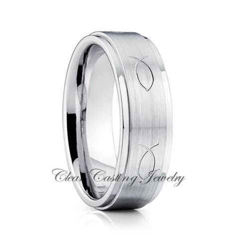 Titanium Wedding Ring,Titanium Wedding Band,Jesus Fist