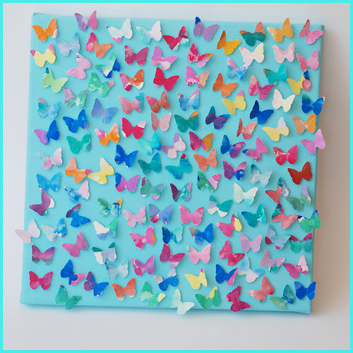 bright eyes + blue eyes: butterfly collage