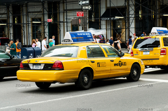 Famous New York yellow taxi