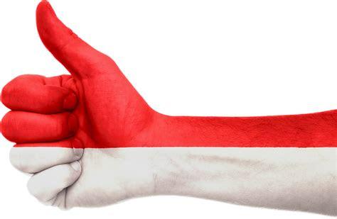illustration indonesia flag hand thumbs
