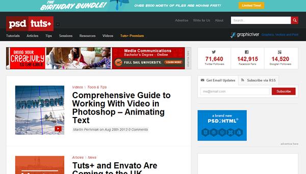 psd tutsplus 8 sitios web que a su vez le en un Photoshop Guru